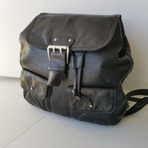 Ralph Lauren Polo Backpack Leather Black